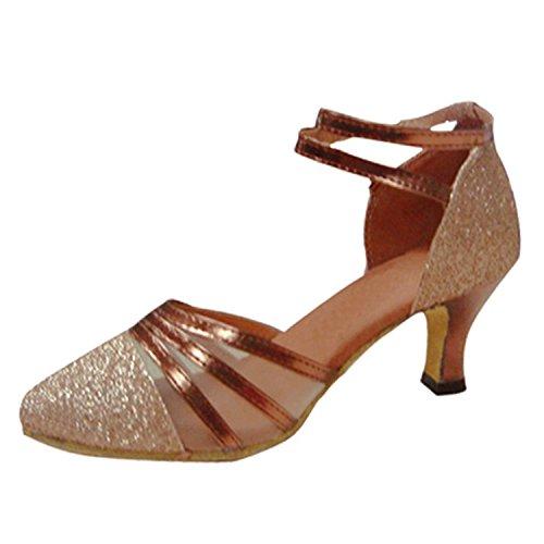 Latino Tira Sandalias Tobillo Zapatos Latino Adultos Zapatos Zapatos de Cuero Onecolor de Samba Zapatos de Baile Baile de de Modern de Verano Jazz Baile BYLE UdtqwgHxU