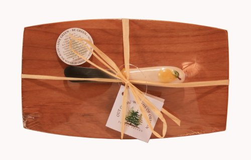 Oregon Pate Board - Out of the Woods of Oregon Pate Board with Yellow Pear Spreader