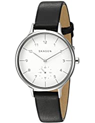 Skagen Women's Anita SKW2415 Black Leather Quartz Watch