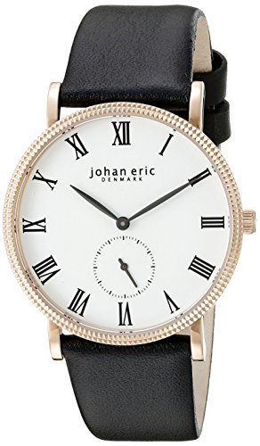 Johan Eric Men s JE-H1000-09-001 Holstebro Analog Display Quartz Black Watch