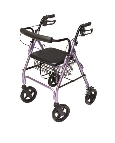 Lumex Walkabout Four-Wheel Contour Deluxe Rollator-Lavender - Each 1