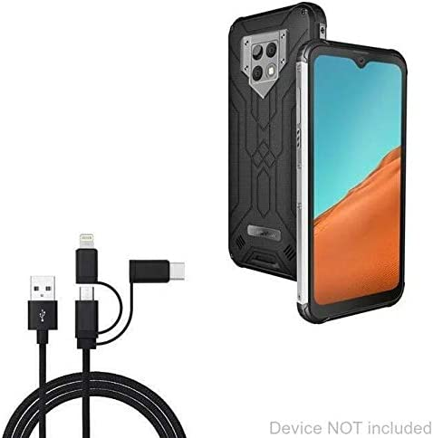 Jet Black for Blackview Tab 8 Blackview Tab 8 Cable BoxWave AllCharge 3-in-1 Cable
