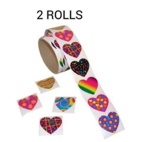 Funky Heart Roll Stickers ROLLS