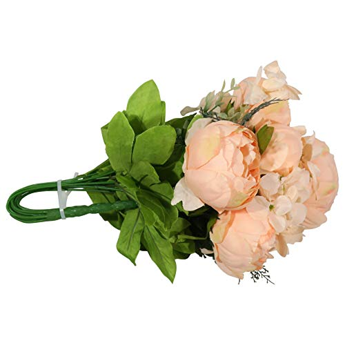 EZFLOWERY-2-Pack-Artificial-Peony-Silk-Flowers-Arrangement-Bouquet-for-Wedding-Centerpiece-Room-Party-Home-Decoration-Elegant-Vintage-Perfect-for-Spring-Summer-and-Occasions-2-Light-Orange