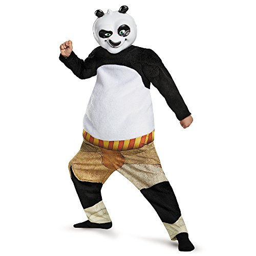 Disguise Panda-Po Deluxe/Muscle Costume, Small (4-6) (Halloween Costumes Panda)