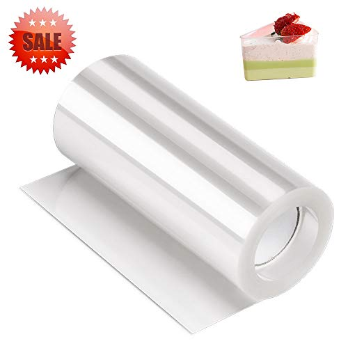 Acetate Sheets,Cake Collar,Kasmoire Acetate Roll(4 Inch 32.8 Feet) Transparent...