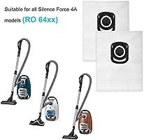 KEEPOW 8 Bolsas para Aspiradora Rowenta ZR200520 Silence Force, 4A, Compact, X-trem Power, Blanco