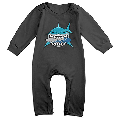 Mrei-leo Toddler Baby Boy Girl Organic Coverall Shark Like Surfboard Baby Clothes
