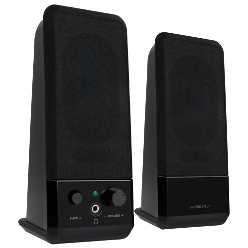 Speedlink Event Aktiver-Lautsprecher (5 Watt RMS Ausgangsleistung, stufenloser Lautstärkeregler, 3,5mm-Anschluss, USB-Stromversorgung)