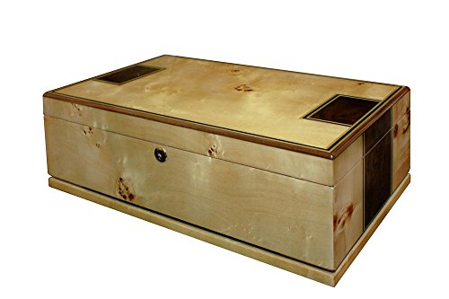 Wall Street Humidor Don Salvatore Toulouse Mapa Burl Solid Bade Humidor by Orleans Group