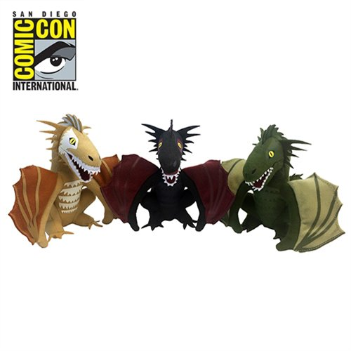 Factory Entertainment - Game Of Thrones - Dragon Plush Box Set 2017 San Diego Comic-Con Convention Exclusive - Set of 3 Plush Dragons