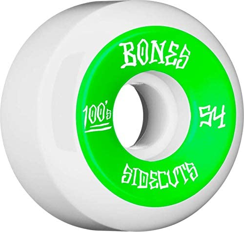Bones 100s #2 54mm White V5 Sidecut