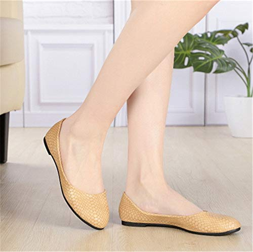 shoes shallow ladies work comfortable shoes autumn FLYRCX shoes single mouth flat fashion Spring soft White bottom and w8pxqtxO