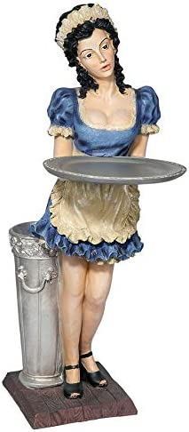 Design Toscano Genevieve the Buxom French Maid Pedestal Sculptural Table