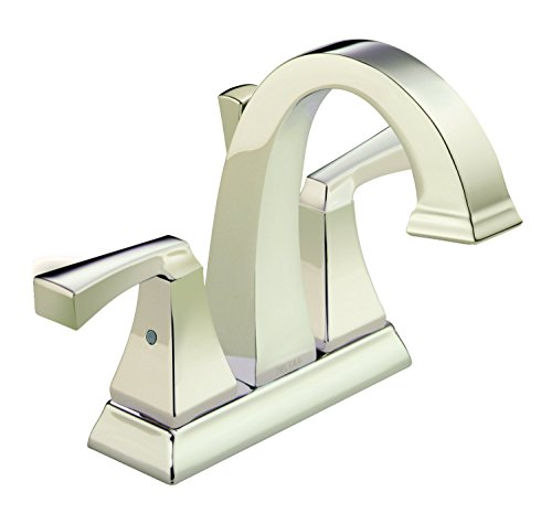 Polished Nickel Sinks - Delta Faucet 2551-PNMPU-DST Dryden Two Handle Centerset Bathroom Faucet, Polished Nickel