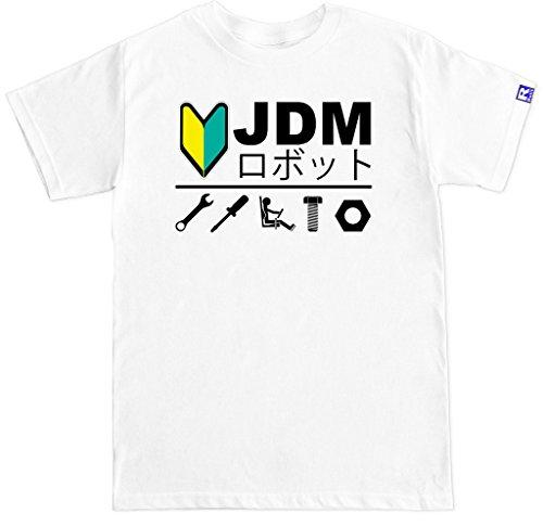 FTD Apparel Men's JDM R Built T Shirt - XL White