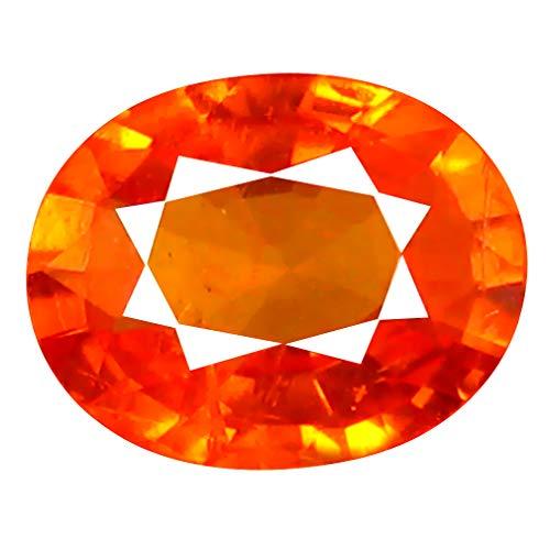 1.09 ct AAA+ Oval Shape (7 x 6 mm) Unheated/Untreated Fanta Orange Tanzanian Spessartine Garnet Natural Loose Gemstone