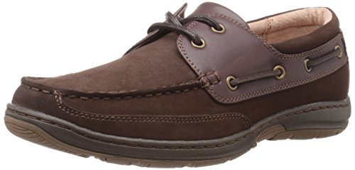 Nunn Bush Mens Outrigger Two-Eye Oxford Dark Brown