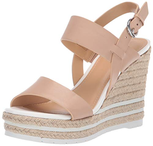 Nine West Women's wnALIVIA Wedge Sandal, Camel, 6.5 M US ()