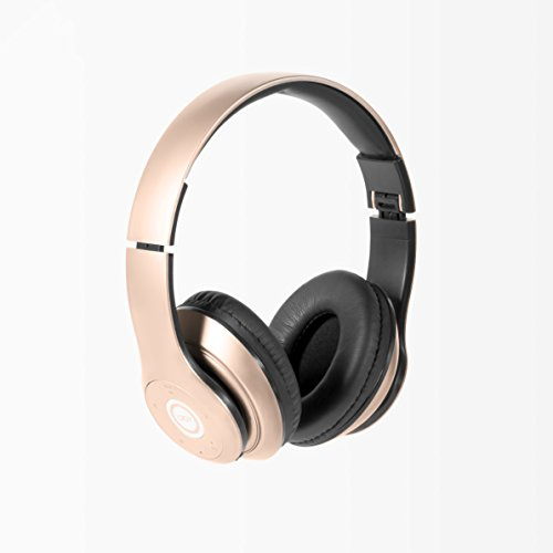 iJoy Matte Rechargeable Wireless Bluetooth Foldable Over Ear Headphones with...