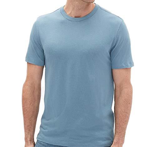 - GAP Men's Crew Neck Cotton T Shirt Everyday Quotidien Solid Color (Pacific Blue, Small)