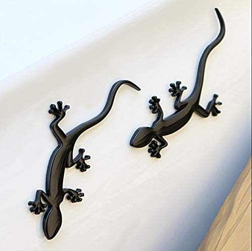 Gecko Zinc Alloy Chrome 3D Metal Car Emblem Badge Stickers Decal Motorcycle Automobiles Decoration On Car Styling Accessories