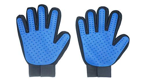Cuddly Furbabies Pet Grooming Glove Gentle Deshedding Brush Glove Efficient Pet Hair Remover Mitt Massage Tool with…