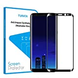 S8 Plus Screen Protector, TURATA HD Full Coverage Tempered Glass Film Screen Protector Made for Samsung Galaxy S8 Plus - Bubble Free & Anti-scratch - 6.2''