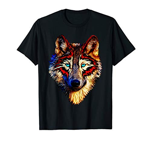 Mens Womens Kids Native American Timber Wolf Cool Gift Shirt