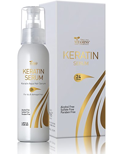 Keratin Infused Protein Hair Serum - Premium Luxury Herbal Oils Complex - Nourishes & Rejuvenates Dry Damaged Hair for All Hair Types 4.25 (Shine Therapy Straightener)