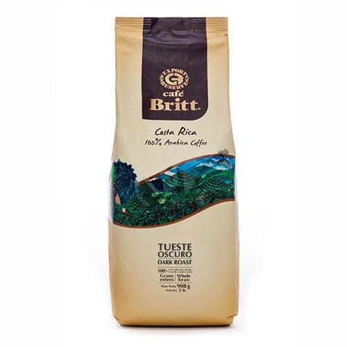 Cafe Britt Costa Rica oscuros röstung toda granos de café, 908 g)