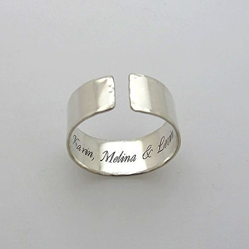 Personalized Sterling Silver Band Ring - Inside Engraved