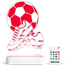 Aloka Soccer Ball & Shoes Starlight Multi-Colored LED Light with Remote Control, Multi-Color Changing, 8 inch