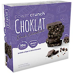 Bio Protein Bar - BioNutritional Research Group Choklat Crunch Protein Crisp Bars Dark Chocolate - 1.5 oz (43 g) bars - 12 count.(GLUTEN FREE)