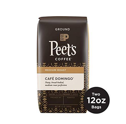 Peet's Coffee Cafe Domingo Medium Roast Ground Coffee, 12 Ounce Bag (Pack of 2)