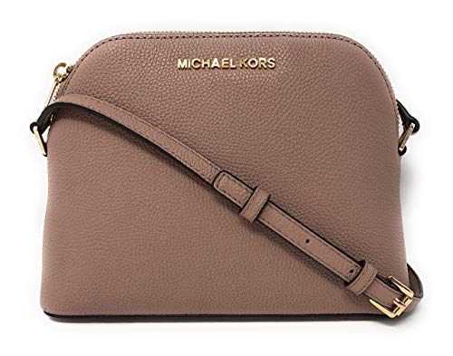 Michael Kors Adele Medium Dome Leather Crossbody bag in Fawn