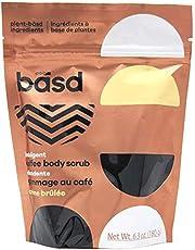 Basd Organic Arabica Coffee Scrub, Indulgent Crème Brulee, Exfoliating, Toning & Smoothing, Vitamin E, 6.3 Ounce Bag