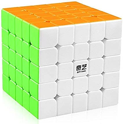 HighRoof QiYi Combo Rubiks Rubix Cube 5x5 High Speed Stickerless Magic Puzzle Game,Multicolor (Cube 5x5)