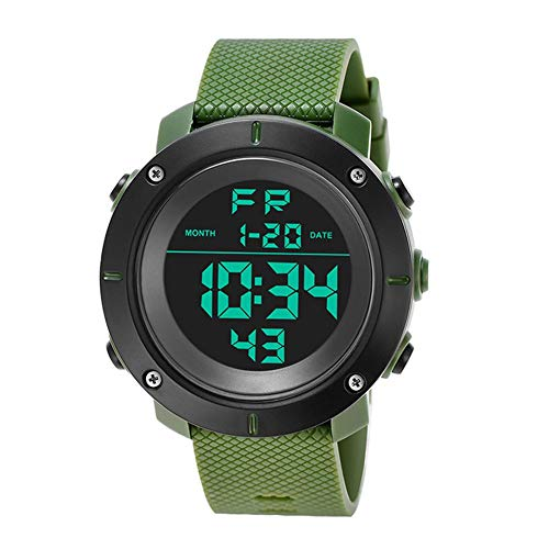(Betfandeful for KAK Men's Sports Diving Watch 30 Meters Electronic LED Watch Fashionable Casual Watches)