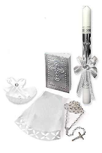 Angels Garment SB42 Neutral Baptism Candle Set (Spanish) from Angels Garment