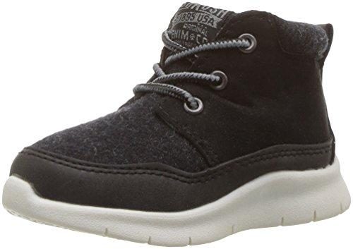 Oshkosh B'Gosh Boys' Cube Athleisure Shoe Sneaker, Black, 9 M US Toddler