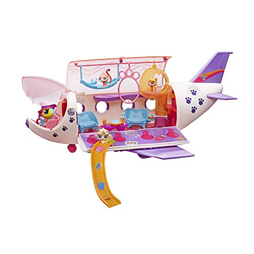 Littlest Pet Shop Pet Jet Playset Toy, Includes 4 Pets, Adult Assembly Required (No Tools Needed), Ages 4 and Up - Littlest Pet Shop Sheets