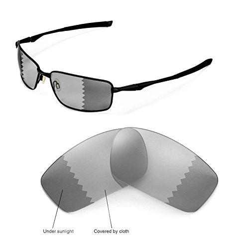 Walleva Replacement Lenses for Oakley Splinter Sunglasses - Multiple Options Available (Transition/photochromic - Polarized)