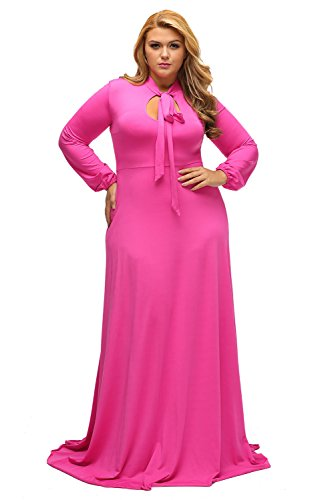 XAKALAKA Women's Plus Size Vintage Magic Masquerade Fashion Party Maxi Dress Rosy -