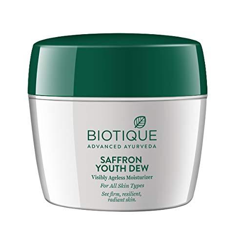 Biotique Saffron Dew Visibly Ageless Moisturizer For All Skin Types, 175gms