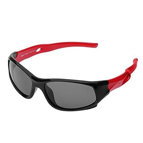 212cdfde05 Protección UV400 Marco Flexible Infantiles Ovaladas Gafas de Sol Deporte  Polarizadas Niño y Niña (3-12años): Amazon.es: Ropa y accesorios