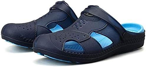 ビーチ足スリッパ、通気性、クール、衝撃吸収、ワタリスリッパアウトドアサンダル (Color : Blue, Size : 45EU)