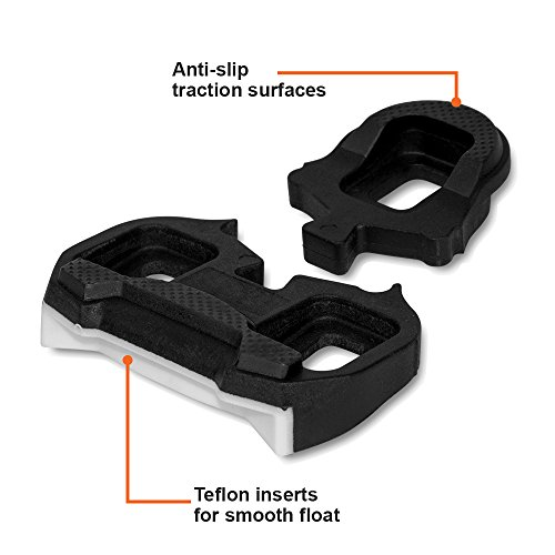 BV Bike Cleats Compatible with Look Keo System- Indoor Cycling & Road Bike Bicycle Cleat Set by BV (Image #5)