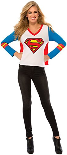 Rubie's Costume Co Women's DC Superheroes Supergirl Sporty Tee, Multi, Large - Girl Superwoman Costumes