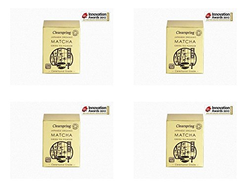 (4 PACK) - Clearspring Matcha Green Tea Powder (Ceremonial Grade)| 30 g |4 PACK - SUPER SAVER - SAVE MONEY by Clearspring Wholefoods (Image #1)